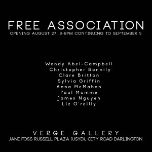 Free Association, Aug 27-Sept 5