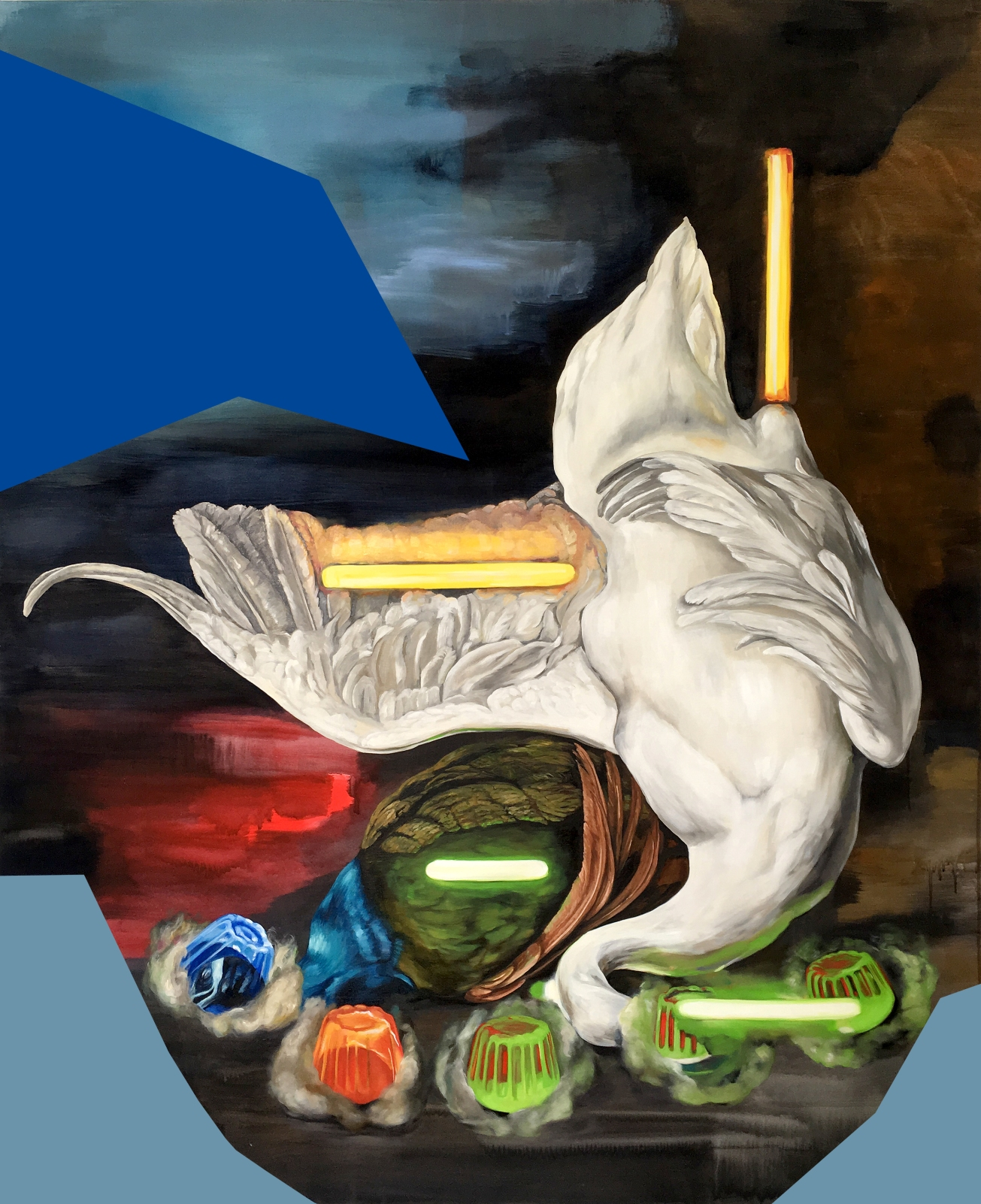 Monika Behrens, Dead Swan (after Weenix), 2016, oil and acrylic on canvas, 168 x 138 cm.jpg