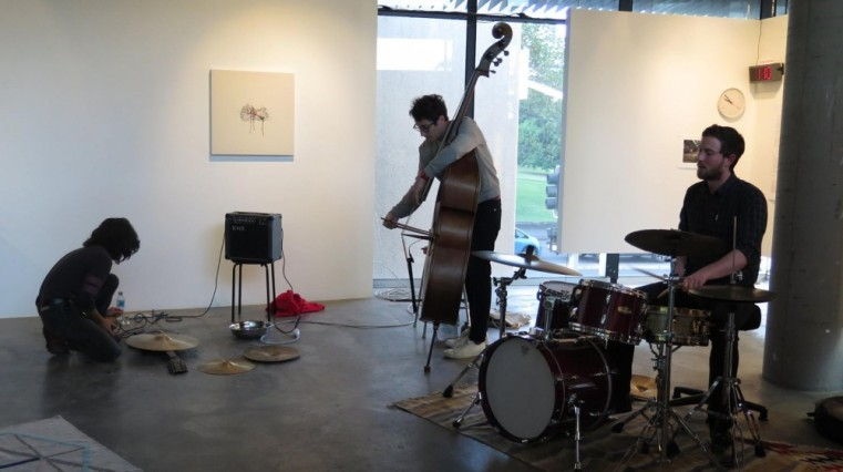 A Strange Invitation to Compassion, December 3, 2015. Julia Reidy solo guitar Shota Matsumura, trumpet Clayton Thomas, double bass Evan Dorrian, drums