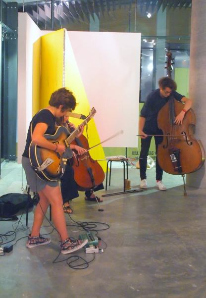 A Strange Invitation To Combat III, February 12, 2015. Brianne Curran, violin Mary-Christina Rapp, cello & bass Julia Reidy, guitar and Clayton Thomas, double bass