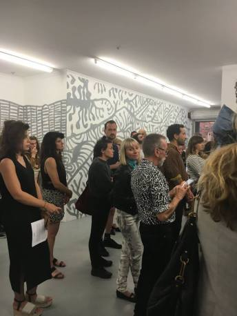D_O_T exhibtion. Opening Night. Image courtesy of Galerie pompom.