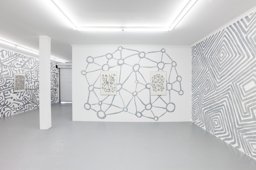 D_O_T offsite exhibition. Artwork by Martha MacDonald set in linework installation. Image by Doqment.