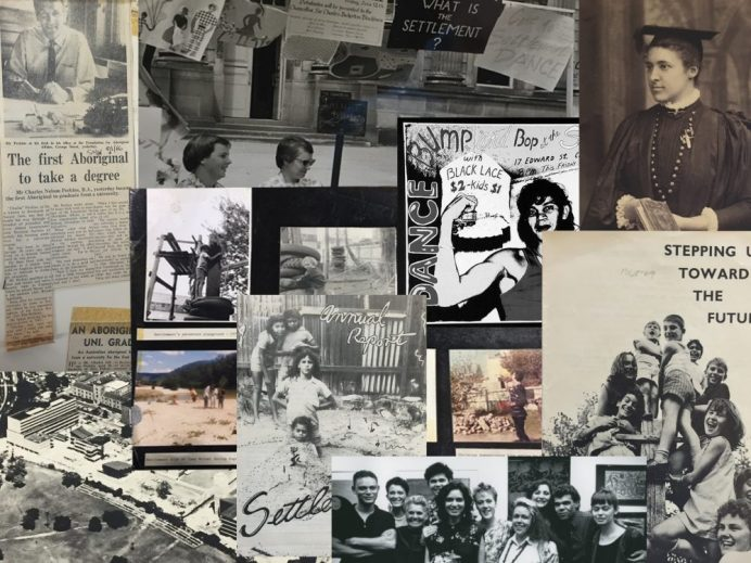 Collage of archival material