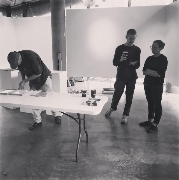 Gilbert Grace installing White by Hamish and Rose