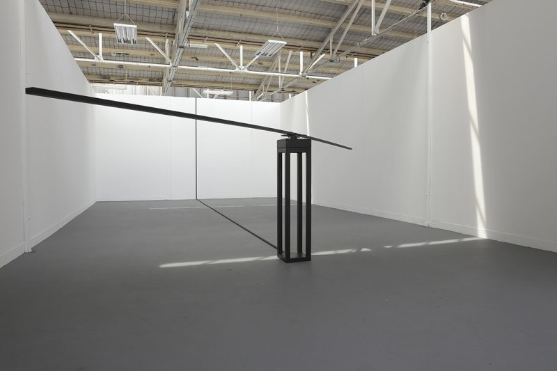 Circulation, Lachlan Anthony, Installation, Rotating display motor, steel, aluminium, pvc conduit, electrical cable. 600 x 150cm. 2015