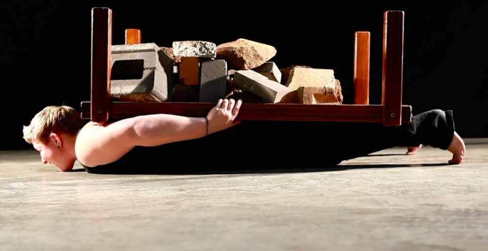 Danica Knezevic, Its hard to keep your head above the coffee table, video performance, 2014