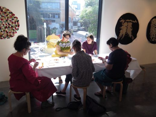 Collective Textile Gathering, March 29, 1pm-3pm, presented in conjunction with We are infinite. exhibition.