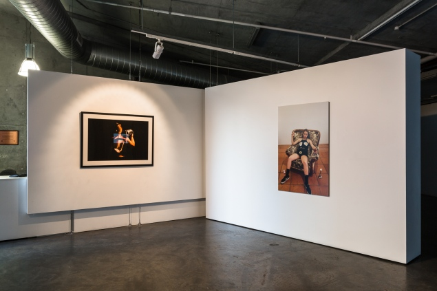 (L-R): Danica Knezevic, Holding Up, archival pigment print, 2016; Pamela Pirovic, Homage to Sarah Lucas, digital c-type, 2018. Image by Document Photography.
