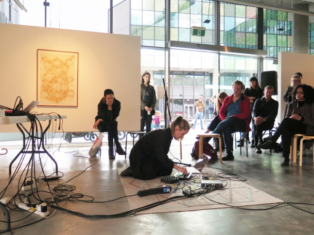 Double Vision live experimental music 2017. Image by Verge Gallery.